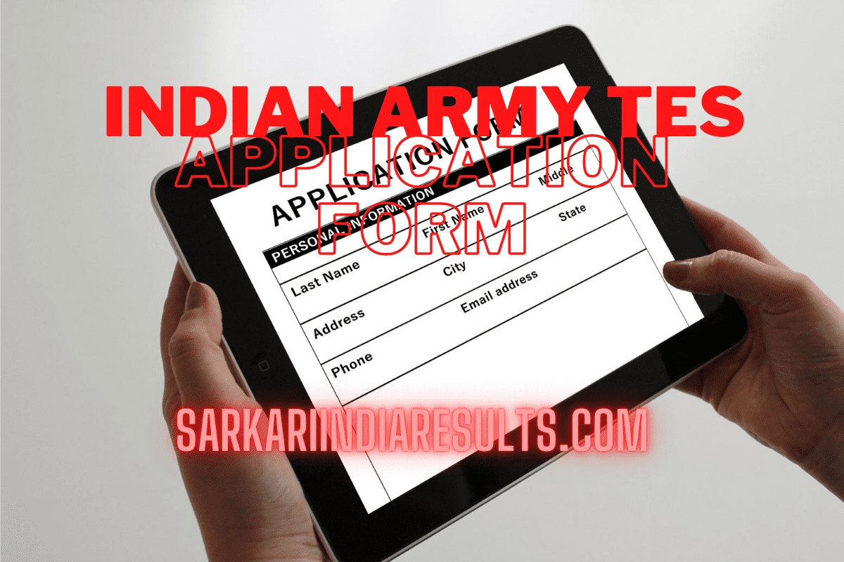 Indian Army TES Application Form